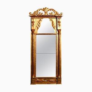 Espejo francés Imperio dorado, década de 1800