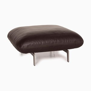 Jalis Brown Leather Stool from COR