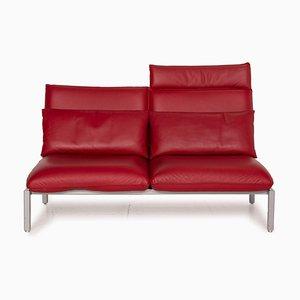 Rotes Roro Zwei-Sitzer Sofa von Brühl & Sippold