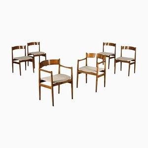 Stuhl aus gebeiztem Buchenholz und Traubeneiche von Gianfranco Frattini, 1960er