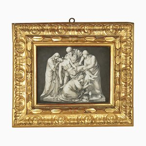 Beweinung über den toten Christus, Gemälde auf Porzellan