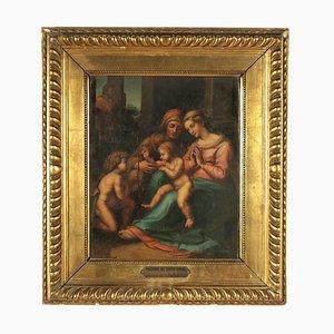 Lady of Divine Love, Kopie von Raphael, Öl auf Leinwand
