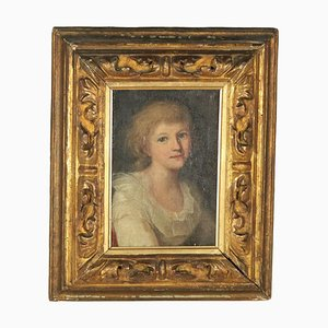Weibliches Portrait, Öl auf Leinwand