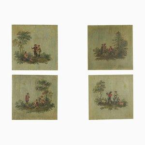 Pannelli dipinti, set di 4