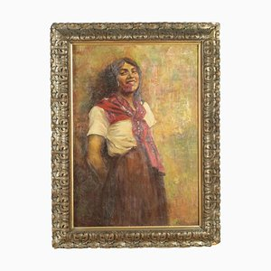 Portrait de Fanciulla, 1924, Huile sur Toile