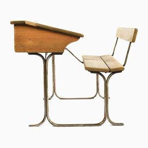 Schultisch aus Holz