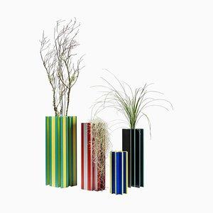 Vasi Piscis in alluminio di Jorge Penadés, set di 4