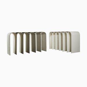 Tables Arch en Blanc par Pietro Franceschini, Set de 2