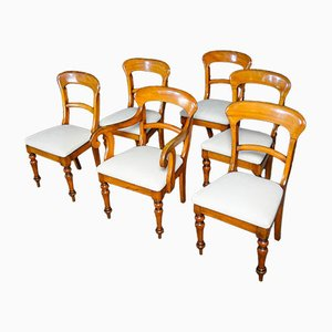 Antike Englische Esszimmerstühle, 6er Set