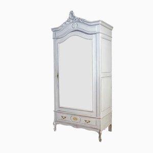 Blauer Spiegelschrank
