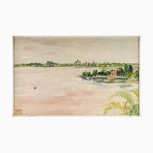 The Ivory Coast Aquarell auf Papier von Luez
