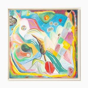Mirtilla Durante, era un cipresso piegato dal vento, originale pittura ad olio su tela, 2020