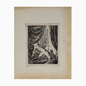 Henri Color, the Apparition, Original Etching, Early 20th Century