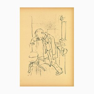 George Grosz, Composition, Original Lithograph and Offset, 1923