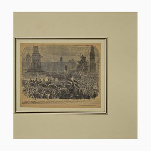Unknown, London Tribute to G. Garibaldi, Original Etching, 19th Century