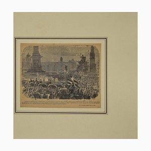 Unknown, London Tribute to G. Garibaldi, Original Radierung, 19. Jahrhundert