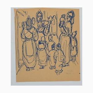 Filles Helen Vogt, Marocaine, Encre Originale, 1930