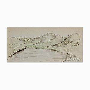 Disegno originale, inchiostro, inchiostro originale e pastello, metà XX secolo