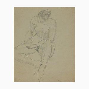 André Meaux Saint-Marc, Nackte Frau, Originaler Bleistift, Frühes 20. Jahrhundert