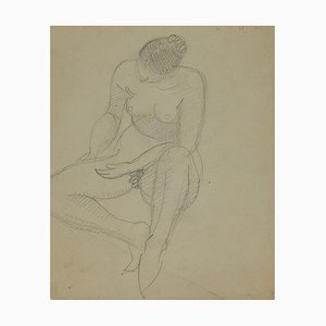 André Meaux Saint-Marc, Naked Woman, Original pencil, early 20th Century