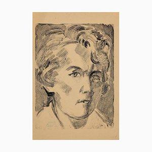 Helen Vogt, Frauengestalt, Original Monotype, 1929