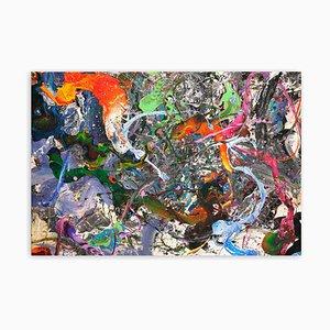 Koi Fisch, Abstrakte Malerei, 2021