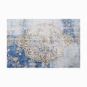 Handgemachter Antiker Türkischer Oushak Teppich aus Wolle