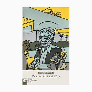 Jacques Derrida Plakat von Valério Adami