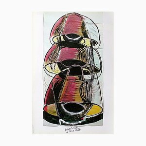 Affiche Festival d'Automne 1987 par Mario Merz