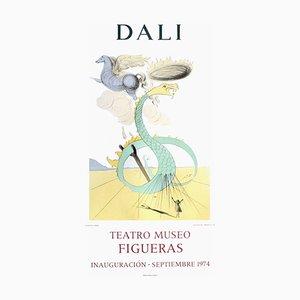 Poster Expo 74, Teatro Museo Figueras 8 Inauguracion par Salvador Dali