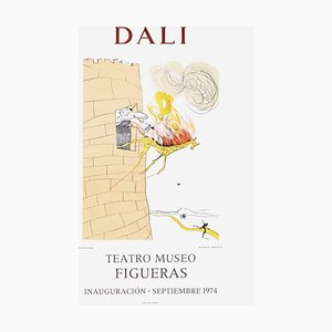 Poster Expo 74, Teatro Museo Figueras 7 Inauguracion par Salvador Dali