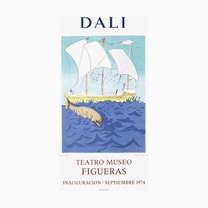 Poster Expo 74, Teatro Museo Figueras Inauguracion 2 par Salvador Dali