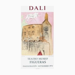 Poster Expo 74, Teatro Museo Figueras Inauguracion 1 par Salvador Dali