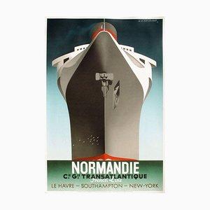 Affiche Normandie Line par Adolphe Cassandre