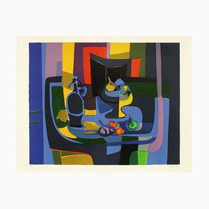 Still Life Fruit Bowl and Trap by Marcel Mouly