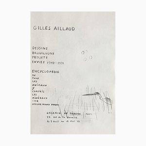 Affiche Expo 91, Galerie De France par Gilles Aillaud