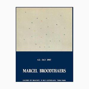 Affiche Expo 87, Galerie Isy Brachot par Marcel Broodthaers