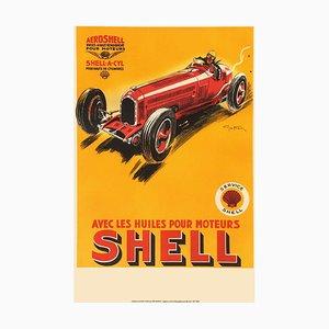 Les Huiles Pour Moteur Shell Druck von Géo Ham