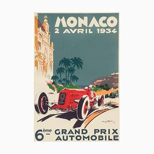 Affiche Monaco Grand Prix 1934 par Geo Ham