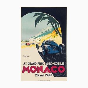 Monaco Grand Prix 1933 Plakat von Geo Ham