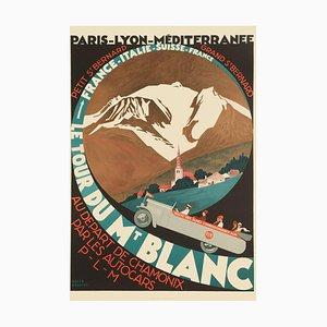 Le Tour du Mont-Blanc Print by Roger Broders