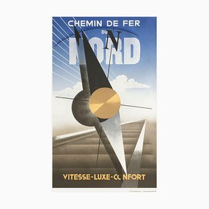 Chemin de Fer du Nord Print by Adolphe Cassandre