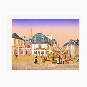 Brittany, Pontivy, Place Du Martray by François Fanch Ledan