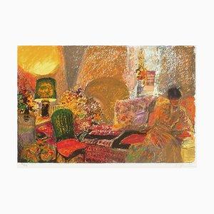 Woman On Sofa by Yvonne Cheffer,Delouis