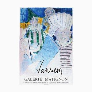 Expo 93 - Galerie Matignon Poster von Jean Jansem