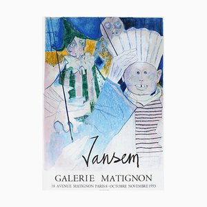 Poster Expo 93 - Galerie Matignon par Jean Jansem