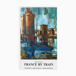 Affiche Discover France by Train (la Rochelle) par Gaston Larrieu