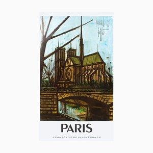 Paris - Französisches Eisenbahn Plakat von Bernard Buffet
