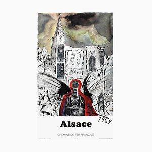 Affiche de Chemins de Fer SNCF Alsace par Salvador Dali