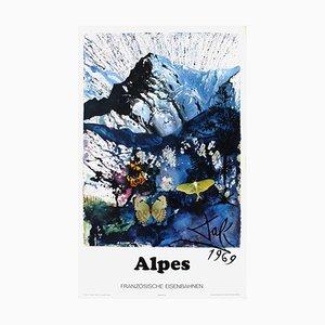 Affiche SNCF Alpes Ferroviaires par Salvador Dali